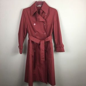 Vintage burnt red  double breasted trench coat